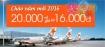 Chào năm mới 2016, 20.000 vé giá chỉ từ 16.000đ!