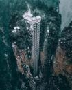 Cận cảnh thang máy Bách Long cao nhất ở Trung Quốc