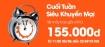 Cuối tuấn siêu khuyến mại của Jetstar. Giá chỉ từ 155.000 đồng.